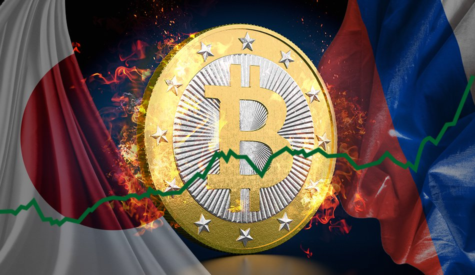 Japan and russia drive bitcoin toward new highs bitcoin magazine positive outlook from japan and russia drives bitcoin toward new highs ccuart Choice Image