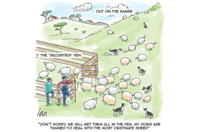 Cartoon: Driving Sheep