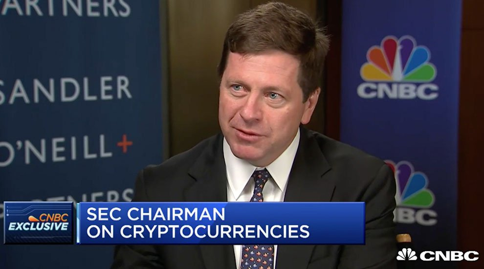 SEC Chairman Jay Clayton: Cryptocurrencies Like Bitcoin Are Not Securities, but Most ICOs Are