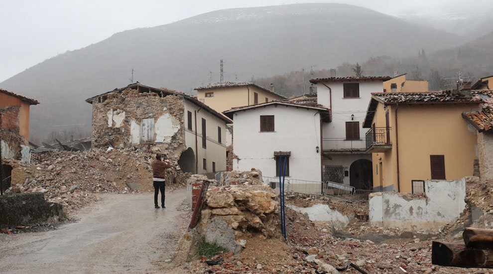 The town of San Pellegrino di Norcia, after the earthquake