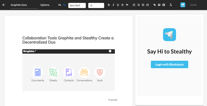 Collaboration Tools Graphite and Stealthy Create a Decentralized Duo
