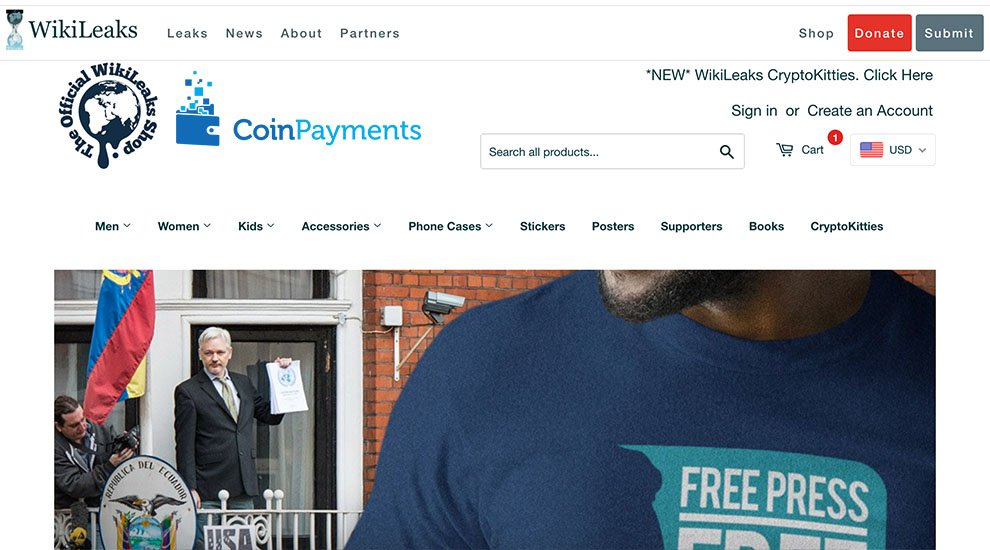 WikiLeaks Store Loses Coinbase Support, Still Processing Sales