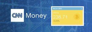 CNN Money Adds Bitcoin Ticker (XBT)
