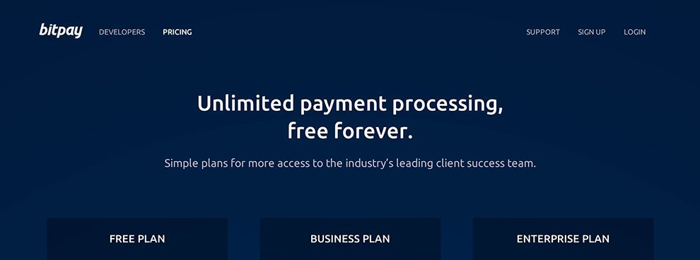 Free, Unlimited, Forever – BitPay's New Pricing Plan