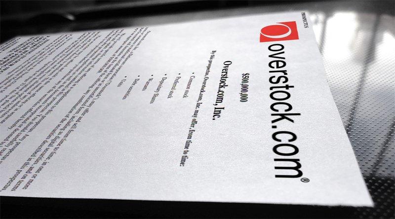 Overstock.com S-3 Filing Details up to $500 million of Digital ...