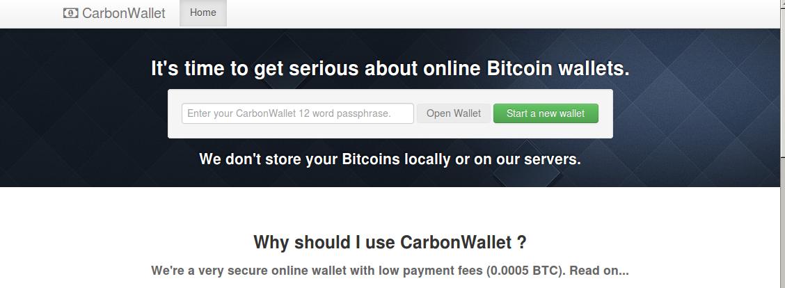 Introducing Carbon Wallet