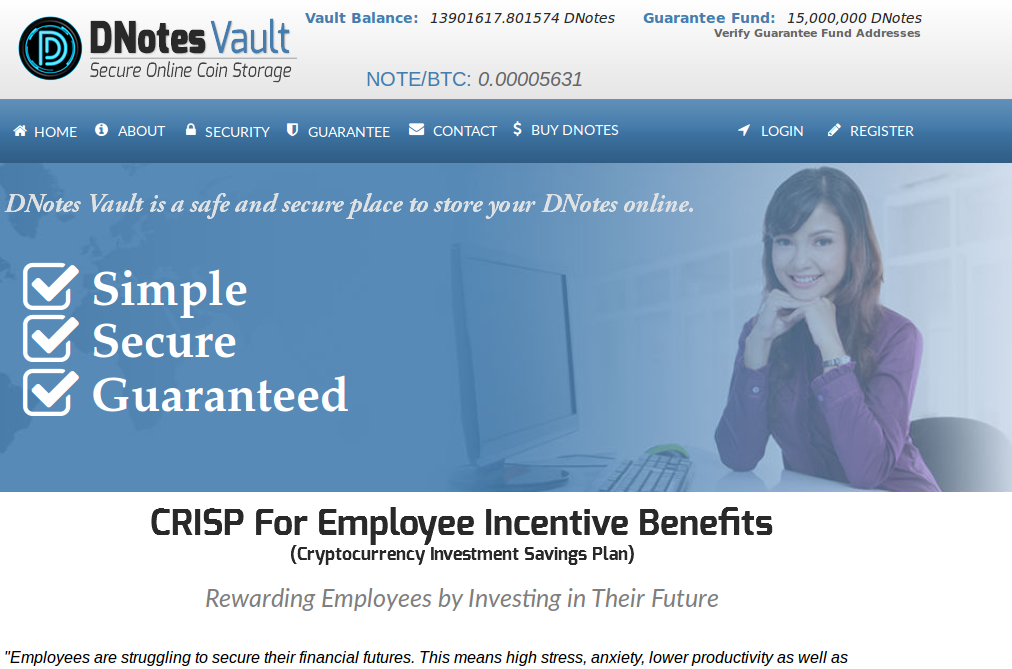 Bitcoin Alternative DNotes Launches World's First Digital Currency Employee Incentive Benefits Plan