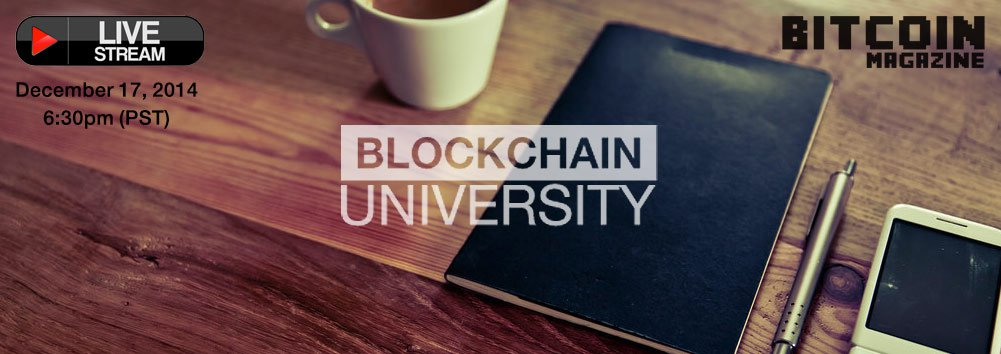 [Live Video Stream] Blockchain University Launch, Holiday Party & Panel