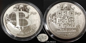 New Liberty Dollar Silver QR Coin Obtains Live Bitcoin Prices