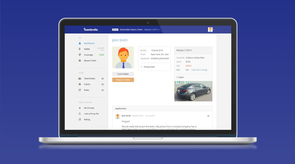 Bitcoin-Based, Peer-To-Peer Insurance Company Teambrella Releases Pre-Launch Demo Version