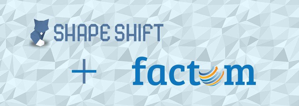 ShapeShift & Factom Partner for Release of Factoids