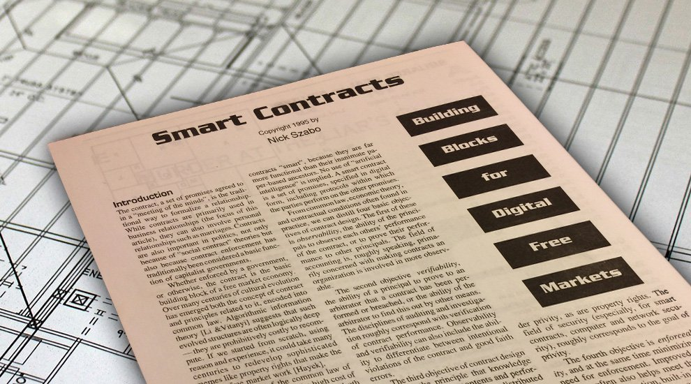 Smart Contracts Described by Nick Szabo 20 Years Ago Now Becoming Reality